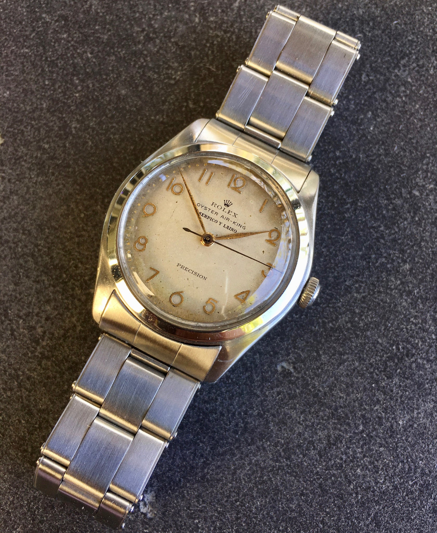 Vintage rolex oyster air king serpico y laino 4499 precision 1946 st hashtag watch company for Vintage rolex oyster