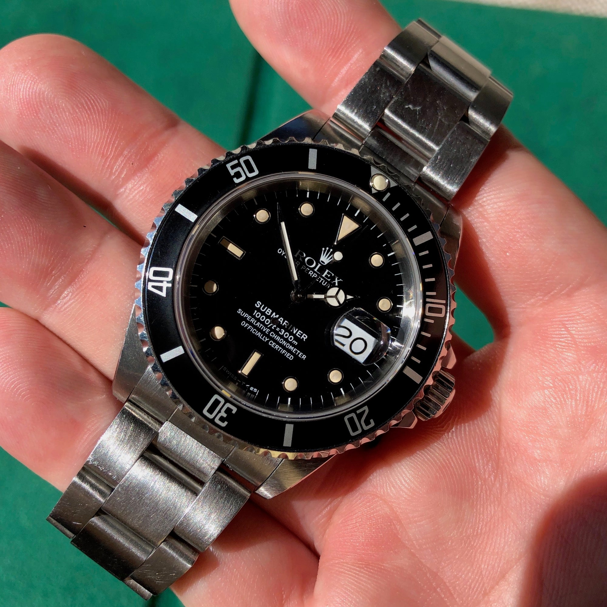 Rolex Submariner Date 16610 Stainless Steel Wristwatch Box Papers Circa 1989 Unpolished - Hashtag Watch Company