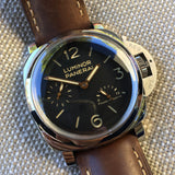 Panerai Luminor 1950 PAM 423 47mm 3 Days Power Reserve Brown Leather Wristwatch