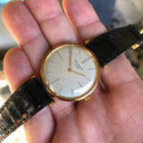 Vintage Patek Philippe Calatrava 2592 18K Yellow Gold Hooded Lugs Wristwatch
