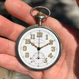 Vacheron & Constantin Military Chronograph WWI Army Corps of Engineers Silver Pocket Watch