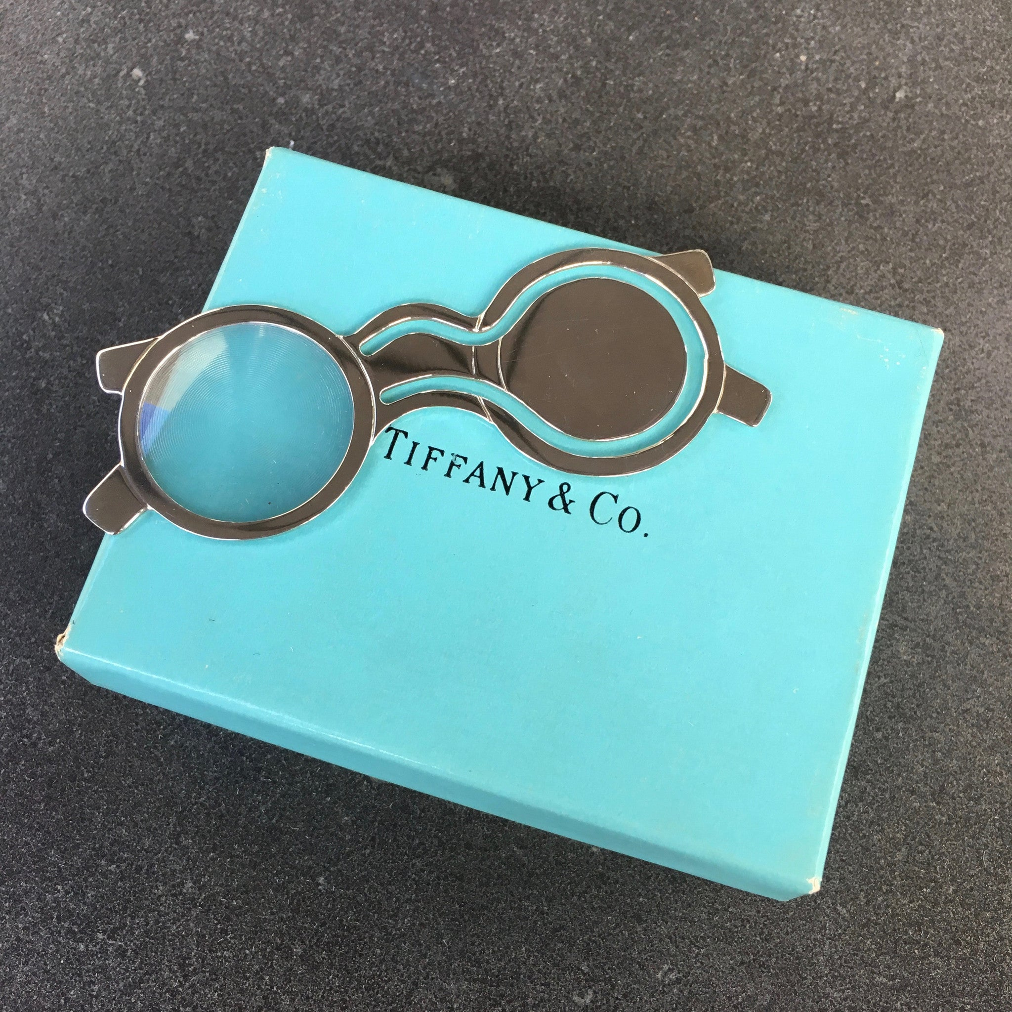 Tiffany & Co. Sterling Silver .925 Spectacles Eyeglasses Bookmark - Hashtag Watch Company