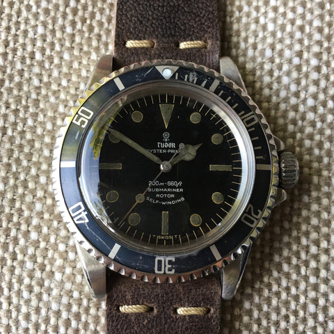 Vintage Tudor Submariner 7928 OysterPrince Gilt 1964 Steel Wristwatch