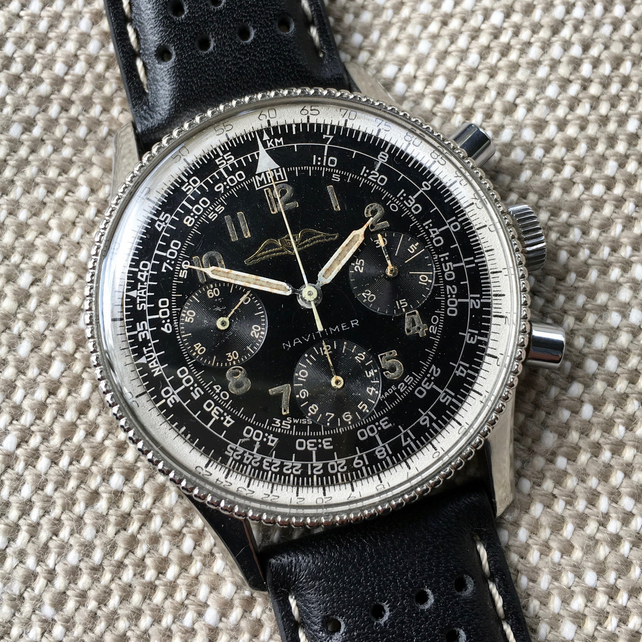 Vintage Breitling Navitimer 806 Steel Venus 178 Chronograph 1958 AOPA Wristwatch - Hashtag Watch Company