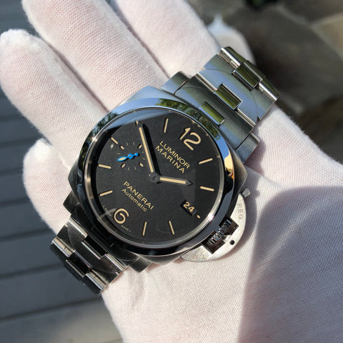 Panerai Luminor Marina 1950 PAM 722 Automatic Stainless Steel 42mm Wristwatch Box Papers