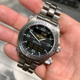 Breitling Emergency E56321 Titanium Aeronautical 43mm Wristwatch Box & Papers