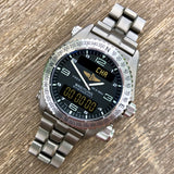 Breitling Emergency E56321 Titanium Aeronautical 43mm Wristwatch Box & Papers - Hashtag Watch Company