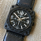 Bell & Ross BR01-94 Carbon Fiber Automatic Chronograph Limited Edition Wristwatch - Hashtag Watch Company