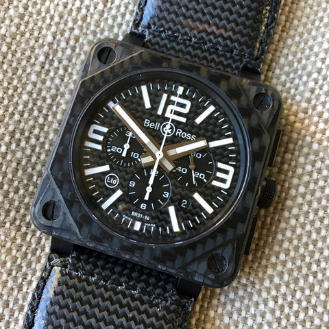Vintage Hugex Stainless Steel Black Gilt Valjoux 72 Chronograph 37mm Wristwatch