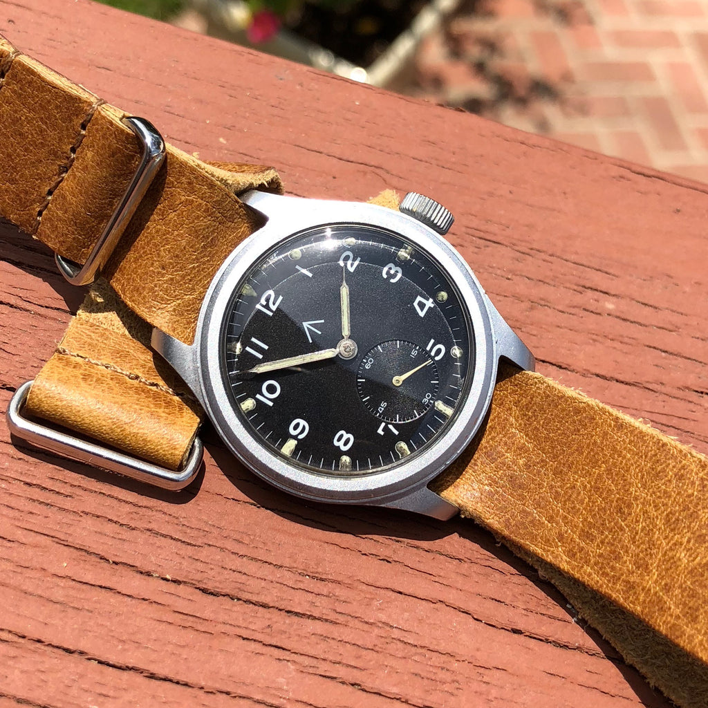 Vintage Timor WWW Military Dirty Dozen Sterile MoD WWII Black Wristwatch
