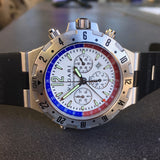 Bvlgari Diagono GMT 40 S FB Steel Chronograph Flyback Automatic Wristwatch - Hashtag Watch Company