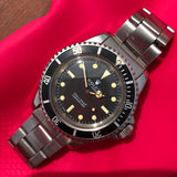 Vintage Rolex Submariner 5513 Meters First Matte Black Wristwatch Circa 1967 - Hashtag Watch Company