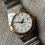 Omega Constellation 50th Anniversary Automatic Diamond 18K Steel Ref 1304.35 - Hashtag Watch Company