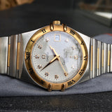 Omega Constellation 50th Anniversary Automatic Diamond 18K Steel Ref 1304.35