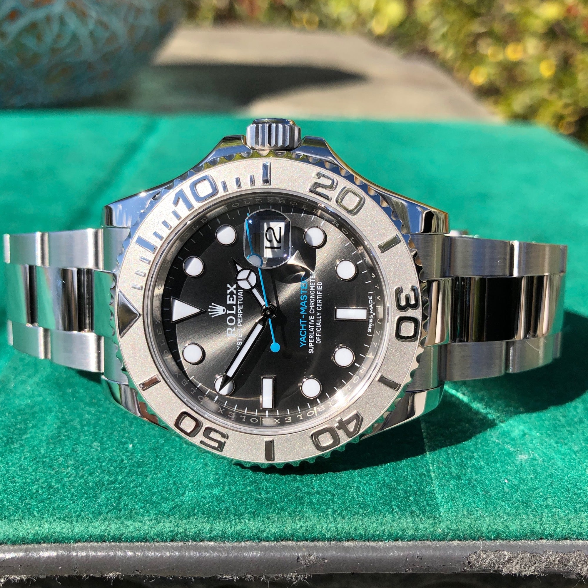 Rolex Yachtmaster 116622 Rhodium Platinum 40mm Steel Oyster Wristwatch Box & Papers - Hashtag Watch Company