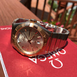 Omega Constellation 12320382202001 Two Tone Red Gold Steel Silver Dial Day Date Box & Papers - Hashtag Watch Company