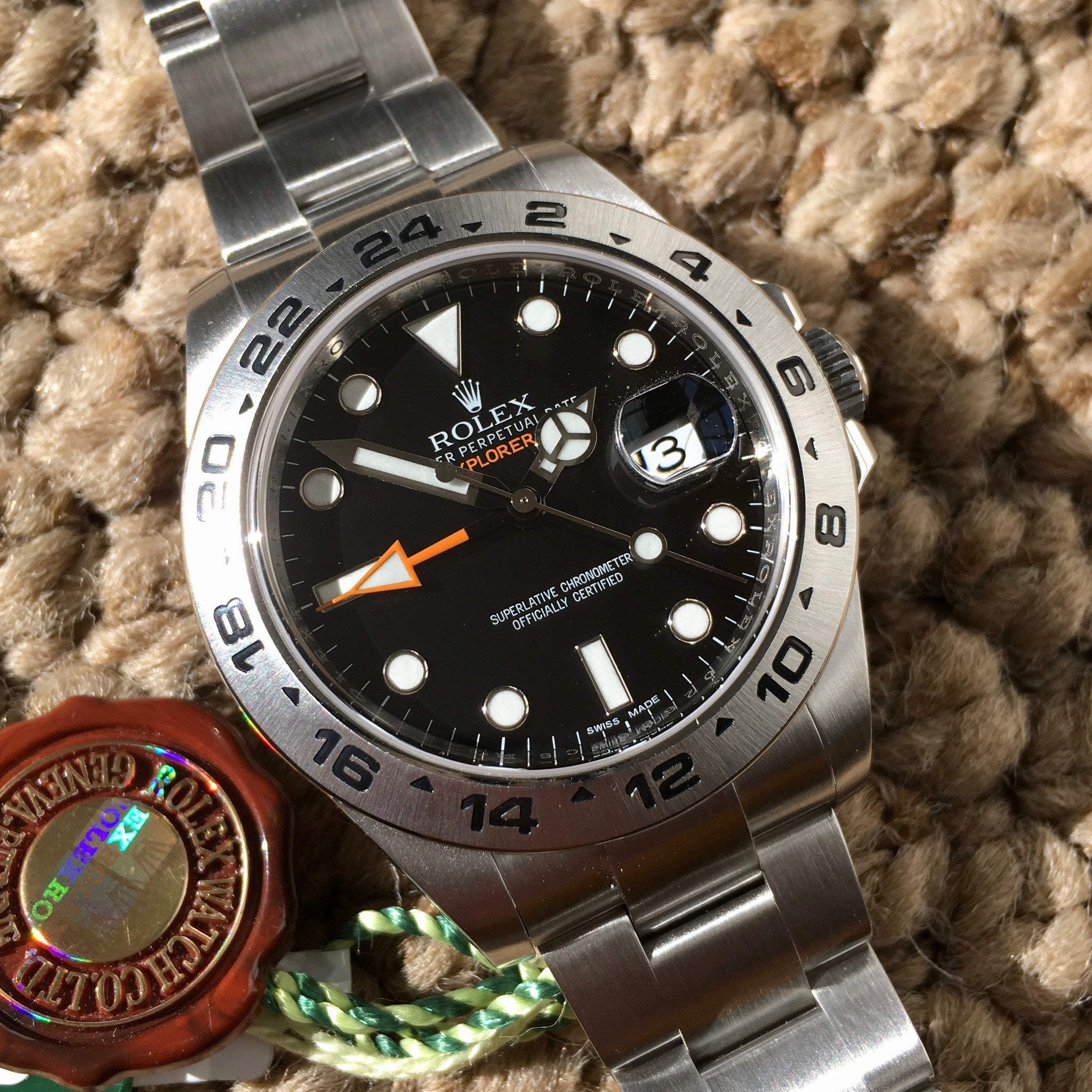 Rolex Explorer II 216570 Steel Black Random Serial Oyster Wristwatch 2014 Box Papers - Hashtag Watch Company
