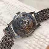 Vintage Angelus Chrono-Datoluxe Moonphase Day Date Chronograph Wristwatch