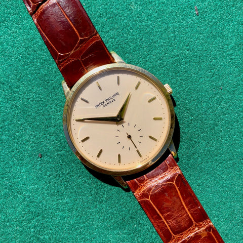 Vintage Patek Philippe Calatrava 3893J 18K Yellow Gold Caliber 215PS Manual Wristwatch