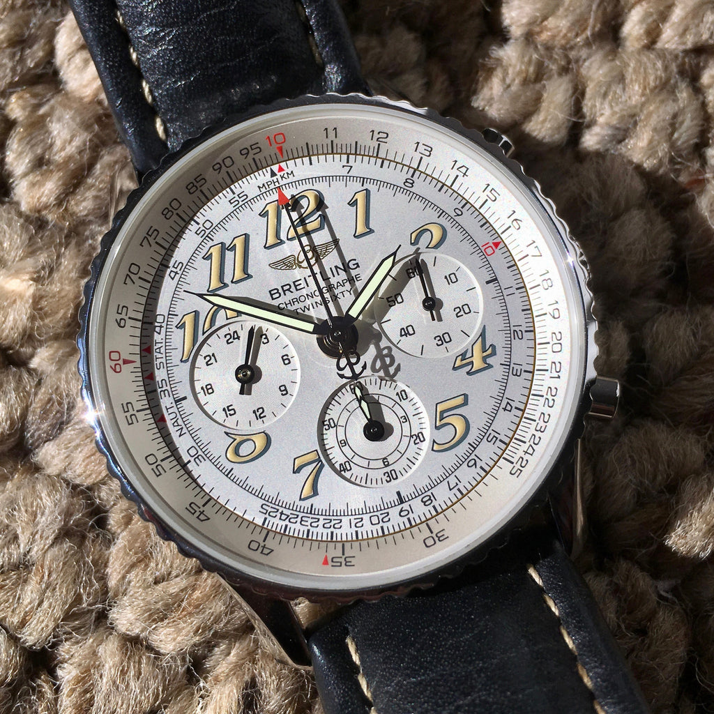 Breitling Navitimer TwinSixty 2 A39022.1 Stainless Steel Silver Dial Automatic Wristwatch
