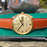 Vintage Omega Seamaster Cosmic 166.049 Day Date 18K Yellow Gold Cal. 752 Automatic Wristwatch - Hashtag Watch Company