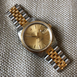 Rolex Date 15223 Oyster Perpetual Two Tone Steel Gold Jubilee Wristwatch Circa 1989 - Hashtag Watch Company