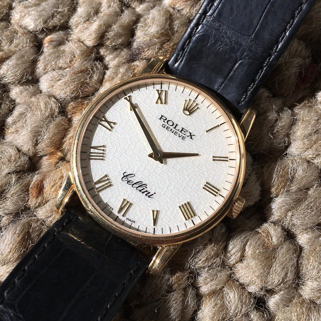 "Rolex Cellini 5116 Jubilee Manual Wind 18K Yellow Gold ""K"" Serial 2001 Wristwatch - Hashtag Watch Company"