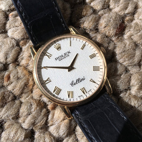 "Rolex Cellini 5116 Jubilee Manual Wind 18K Yellow Gold ""K"" Serial 2001 Wristwatch"