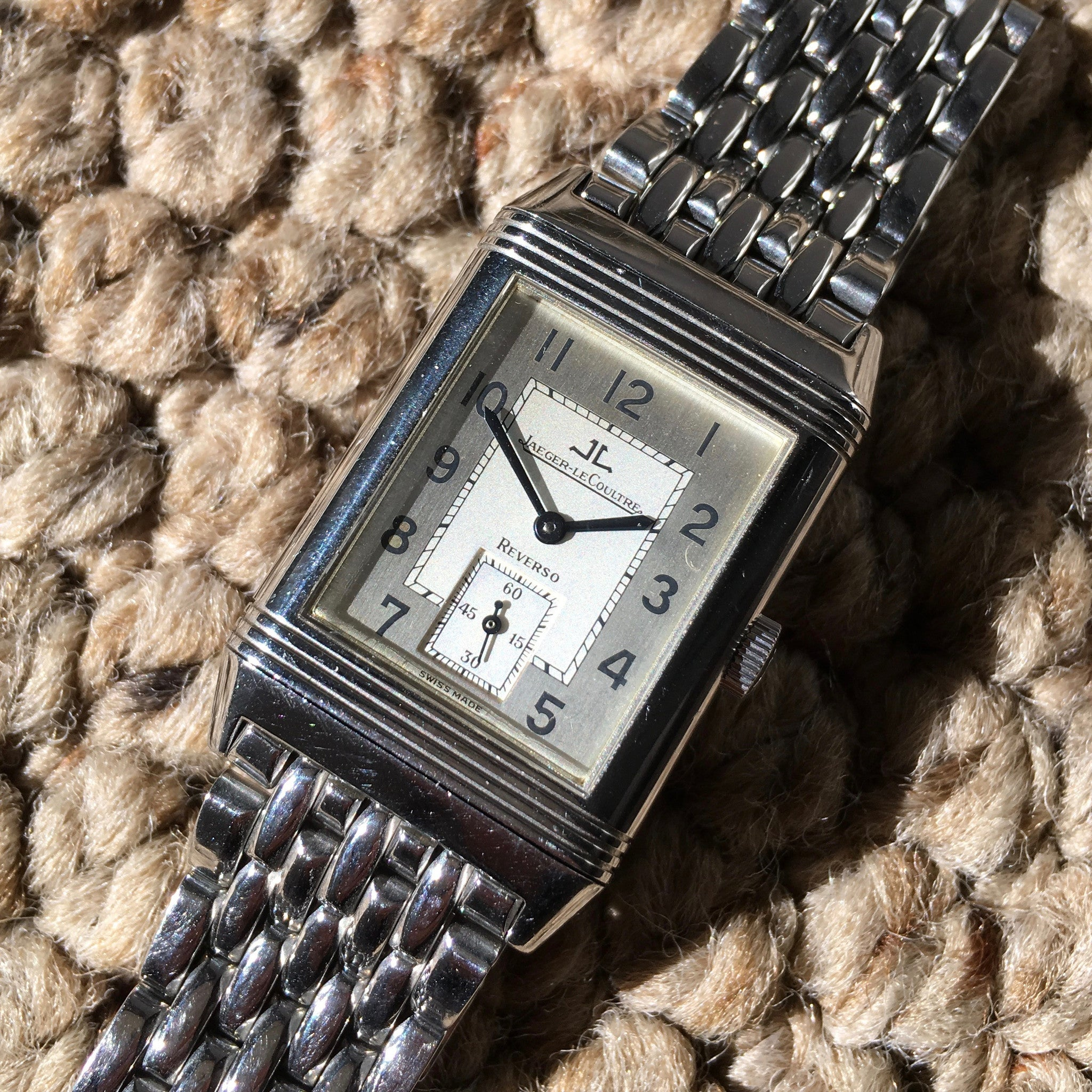 Jaeger LeCoultre Reverso Grande Taille 270.8.62 Steel Manual Wind Wristwatch - Hashtag Watch Company