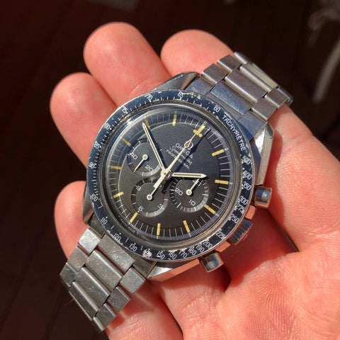 1960s Vintage Zodiac Sea-Chron Steel Valjoux 72 Chronograph Stainless Steel Wristwatch