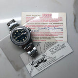 1968 Vintage Tudor Submariner 7021 Blue Snowflake Dial Kissing 40 Ghost Insert Automatic Wristwatch - Hashtag Watch Company