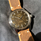 Vintage Longines Conquest Automatic 9000 Tropical Brown Cal. 19AS Steel Wristwatch