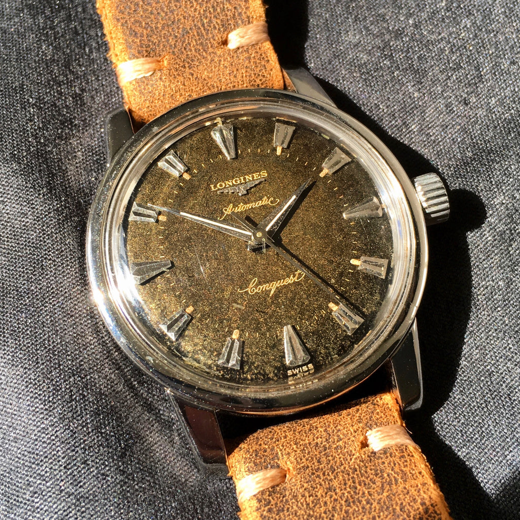 Vintage Longines Conquest Automatic 9000 Tropical Brown Cal. 19AS Steel Wristwatch - Hashtag Watch Company