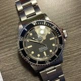 1976 Vintage Rolex Submariner 5512 Matte Four Line Fat Font Insert Wristwatch - Hashtag Watch Company