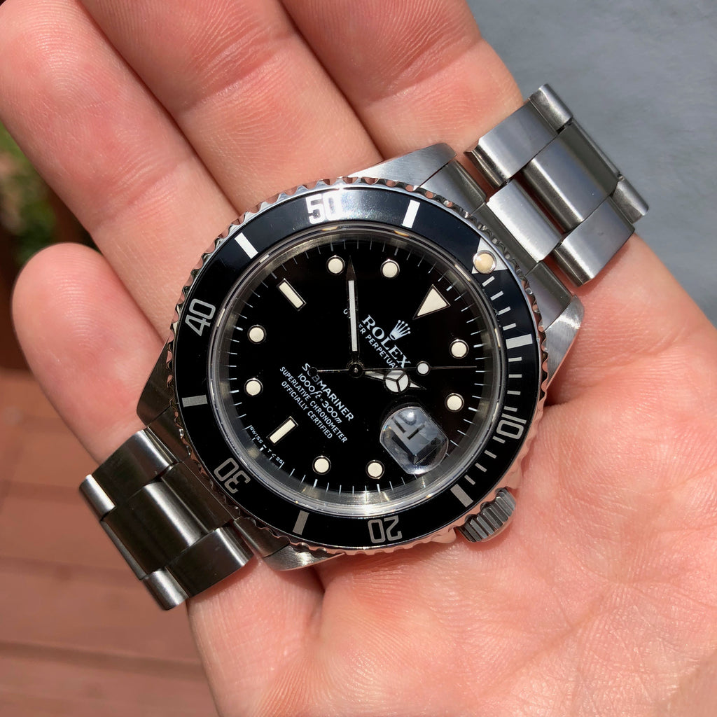 Rolex Submariner 16610 Date Stainless Steel Automatic Cal. 3135 Box & Papers Circa 1989