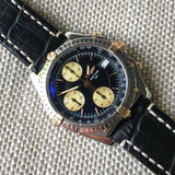 Breitling Chronomat B13050.1 Chronograph Two Tone Steel Gold Black Automatic Wristwatch - Hashtag Watch Company