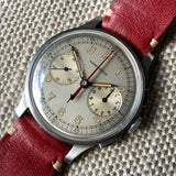 Vintage Longines 13ZN Steel Chronograph Center Minutes Recorder Wristwatch 1940's