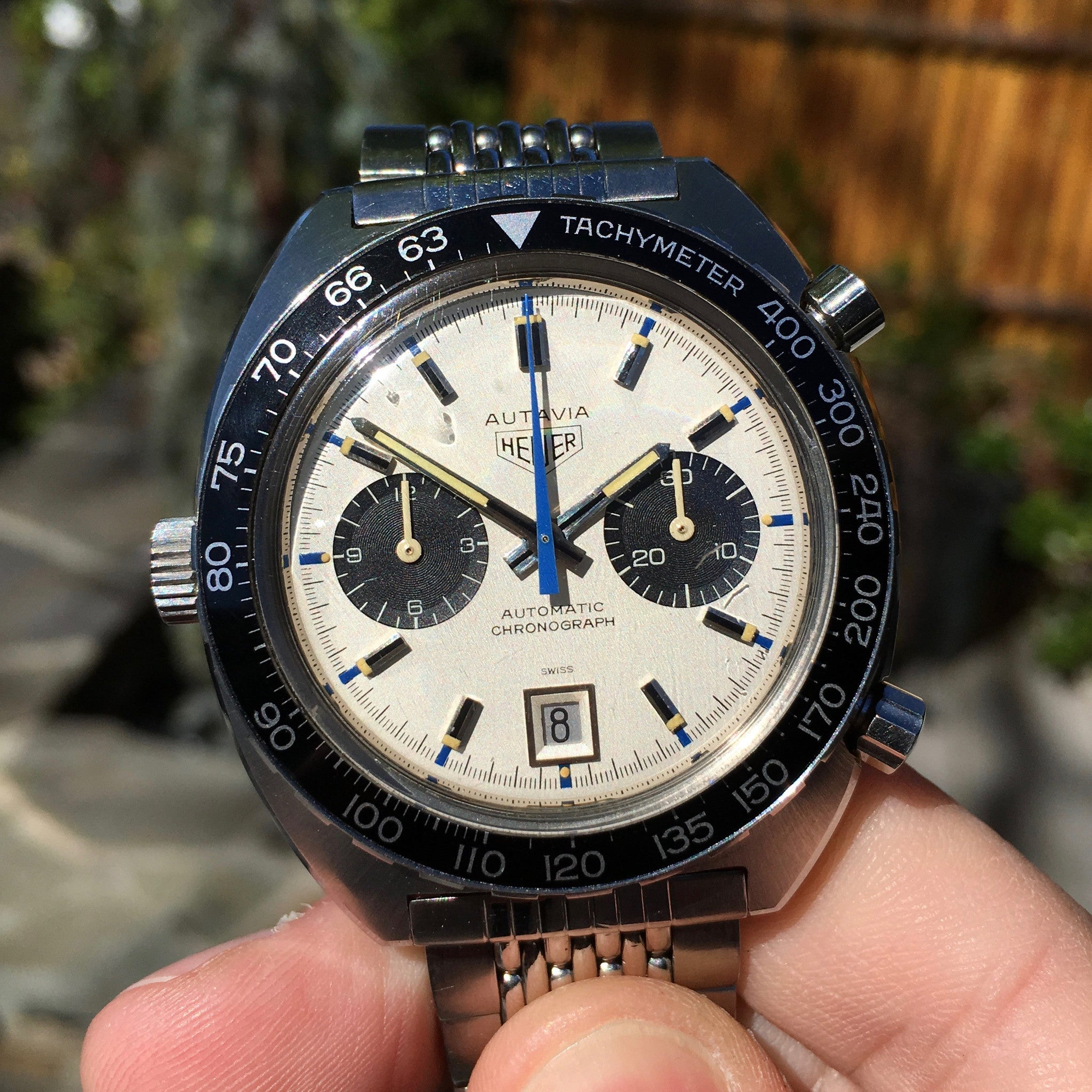 Vintage Heuer Autavia 1163 Jo Siffert Mk. IV Steel Chronograph Cal. 11 Watch 1971 - Hashtag Watch Company