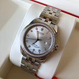 Tudor Glamour Date 31 53020 Silver Diamond Dial Bezel Stainless Steel Automatic Ladies Wristwatch - Hashtag Watch Company