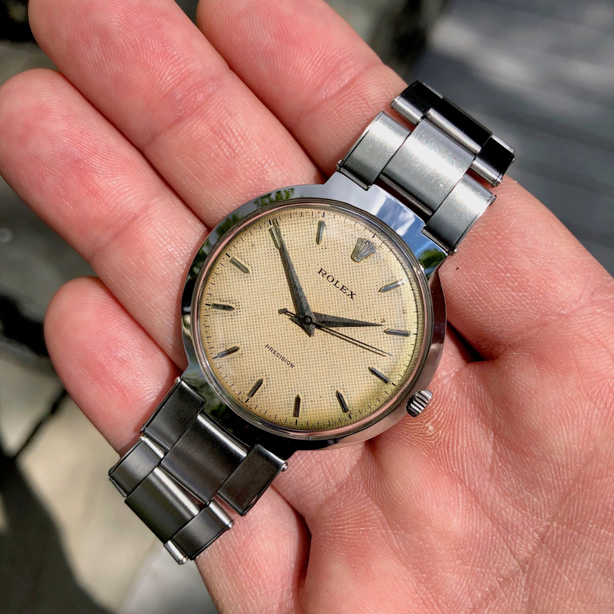 Vintage Rolex Precision 9083 UFO Stainless Steel Cal. 1210 Manual Wristwatch - Hashtag Watch Company