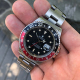Rolex GMT MASTER II 16760 Fat Lady Coke Bezel R Serial Cal. 3085 Automatic Wristwatch Circa 1987
