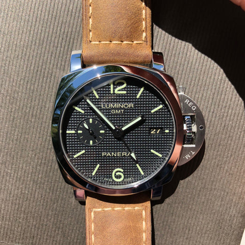 Panerai Luminor 1950 PAM 535 GMT 3 Days Automatic 42mm Wristwatch Box Papers