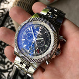Breitling for Bentley A47362 Stainless Steel GMT Chronograph Automatic 49mm Wristwatch - Hashtag Watch Company