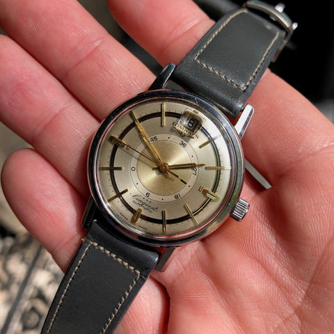 Vintage Longines Conquest Power Reserve 9032 Automatic Cal. 294 Steel Wristwatch