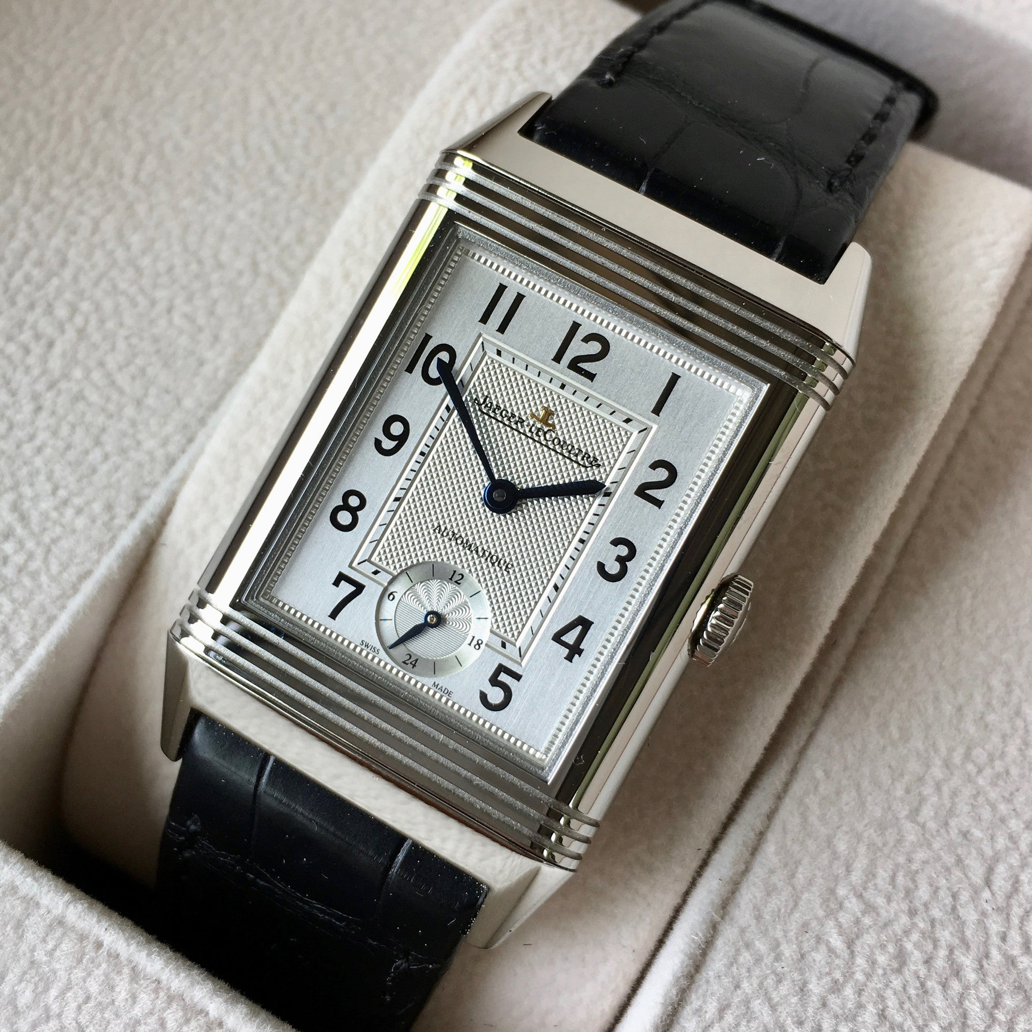 Jaeger LeCoultre Grande Reverso Day & Night Automatique Q3808420 278.8.56 Watch - Hashtag Watch Company