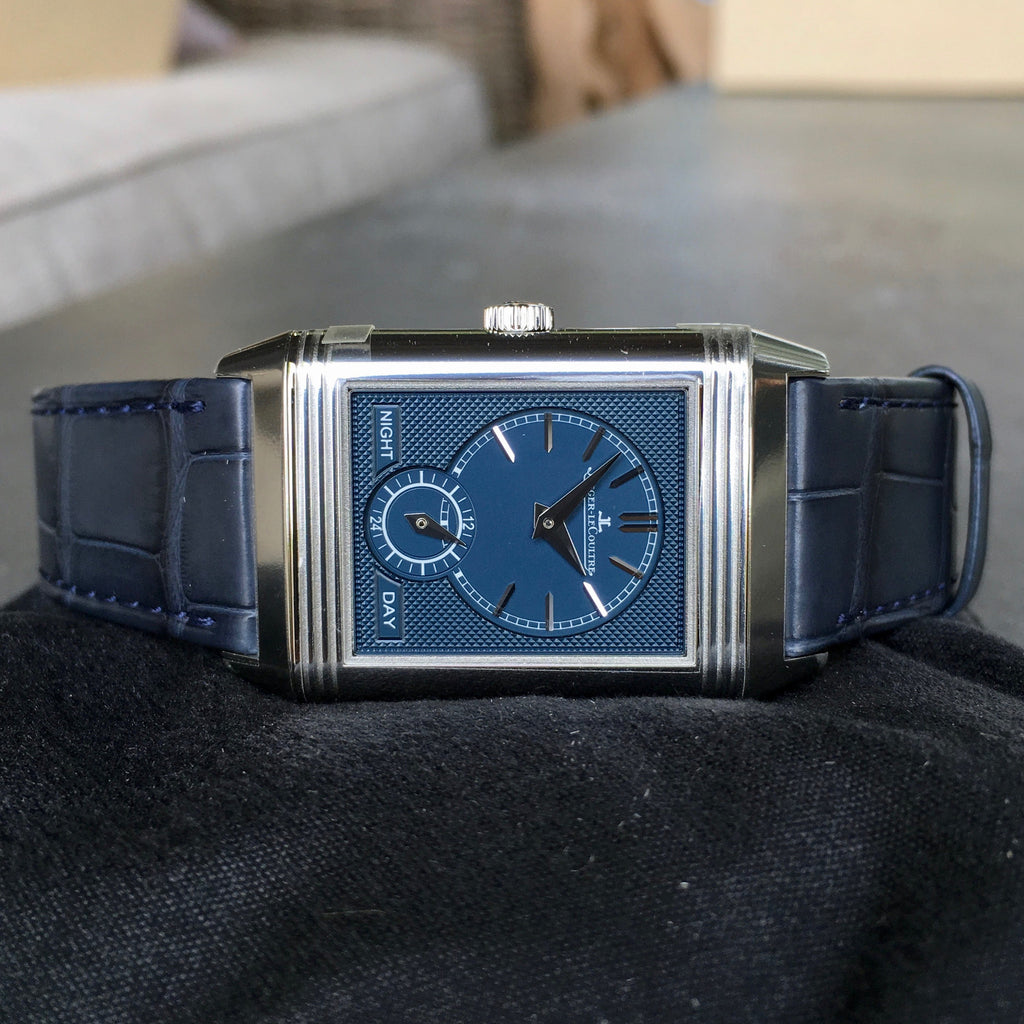 Jaeger LeCoultre Reverso Tribute Duoface Q3908420 Stainless Steel Anniversary Wristwatch