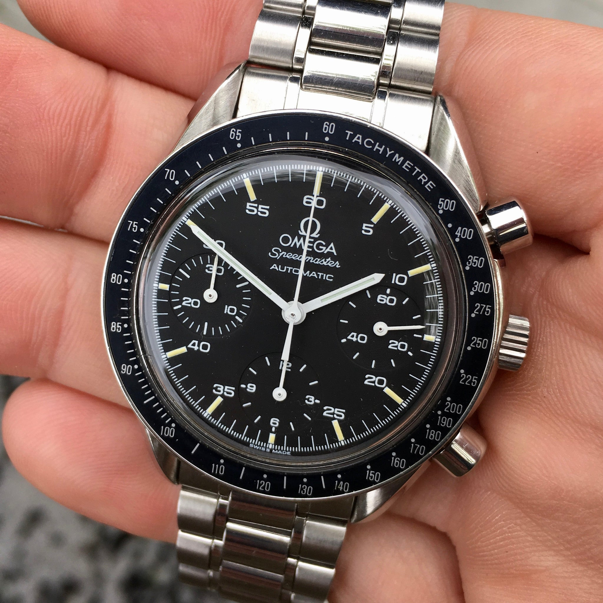 Omega Speedmaster 175.0032 Automatic Chronograph Cal. 2890 Black Dial Wristwatch - Hashtag Watch Company