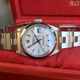 Rolex Date 79160 Silver Tapestry Automatic Stainless Steel Wristwatch Box Papers