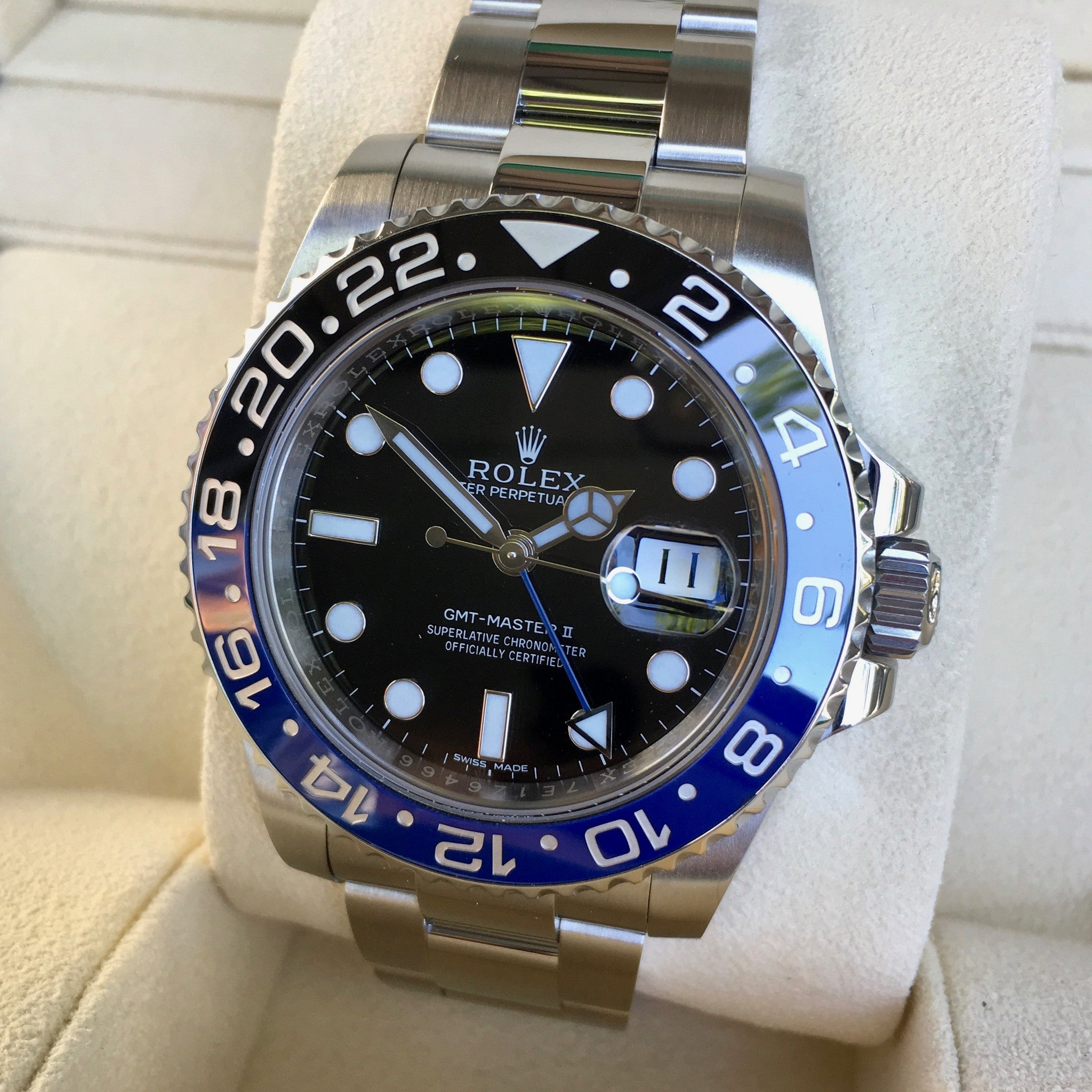 Rolex GMT Master II 116710 BLNR Batman Ceramic Steel Automatic Watch Box Papers - Hashtag Watch Company