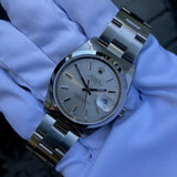 Rolex Date 15200 Oyster Perpetual Stainless Steel Silver Date Automatic Wristwatch Box & Papers Circa 2005 LNOS - Hashtag Watch Company